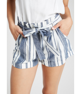 WL High Waisted Front Tie Shorts 1302