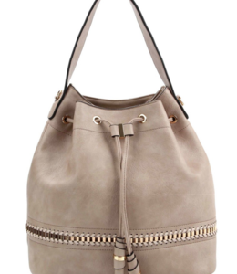 BB Whipstitch Drawstring Hobo Bag 0491