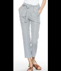 En Creme Striped Tie-Front Pants 70979