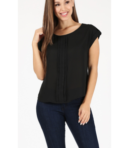 MH Shoulder Strapped Pleat Top 82039