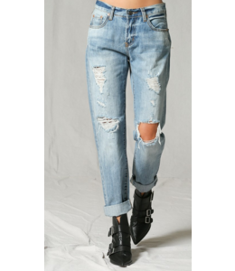 BT Mid-Rise Ripped Boyfriend Denim Jeans 108