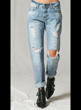BT Mid-Rise Ripped Boyfriend Denim Jeans 108