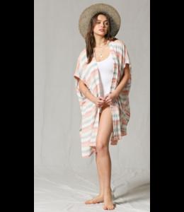 BT Striped Poncho Cover Up Kimono 2772