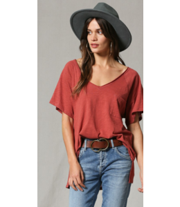 BT V-Neck Oversized Pocket T-Shirt 460