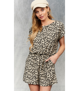 BB Leopard Romper W/Pockets 9020