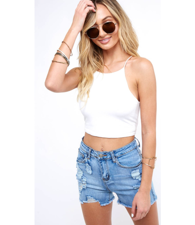 PLC Distressed Denim Shorts 80183