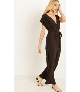 GL Front Tie Jumpsuit With Pockets 1729