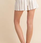 GL Striped Shorts Button Detail 7144