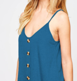 FF Solid Button Down Tank 92160