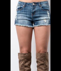 WL Cutoff Distressed Denim Shorts 8305