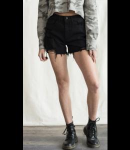 SP Distress Cut Off Denim Shorts 7060