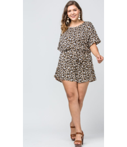 ETO Look At Me Leopard Romper 4789