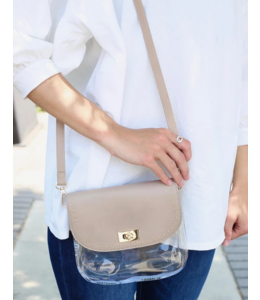 CHW Studded Varsity Clear Crossbody Bag 15000