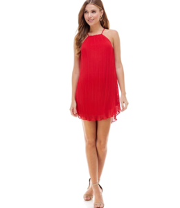 TC Halter Pleated Dress 1310