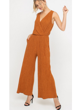 LH Plisse Sleeveless Jumpsuit 6669