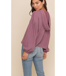 LH Hooded Brushed Rib Sweater 15095