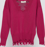 PLC Frayed Pullover Sweater 33586
