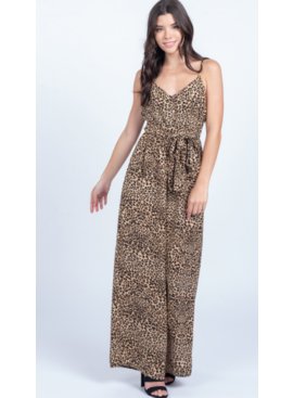 EV Sleeveless Animal Print Jumpsuit 0103519