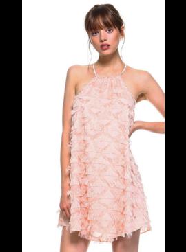 TC Fringed Halter Dress 8745