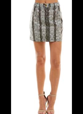TC Leather Snake Skirt 3370