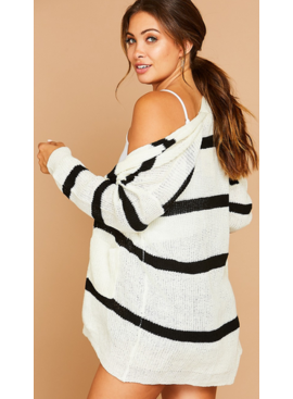 PLC Striped Sweater with Pockets 74013
