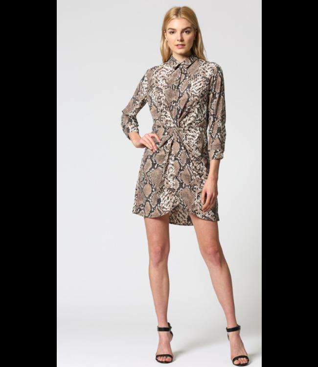 FT Long Sleeve Twist Dress 103