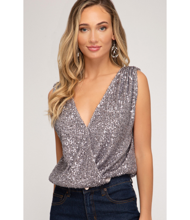SS Sequin Top with Low Back Detail 1986