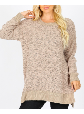 ZA Long Sleeve Popcorn Sweater 1911