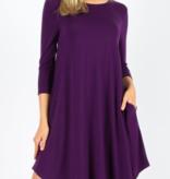 ZA Simple A-Line Dress 1300