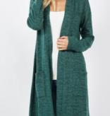 ZA Brushed Melange Sweater Longline Cardigan 2433