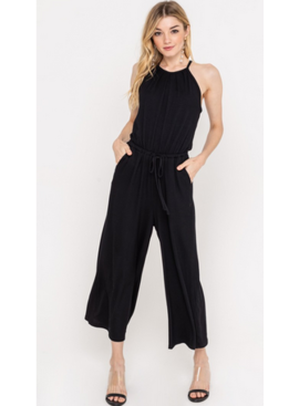 LSH Black Ribbed Jumpsuit 6575
