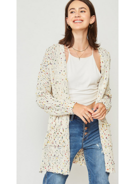 PLC Pop of Color Cardigan 74013
