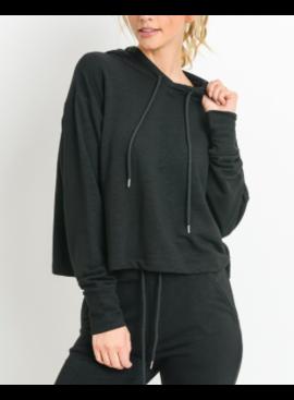 MB Cropped Hoodie Boxy Sweatshirt 11053