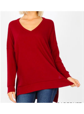 ZA Thermal V-Neck Sweater 2589