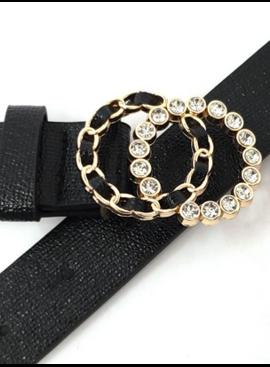 AA Double Ring Buckle Skinny Belt 1145
