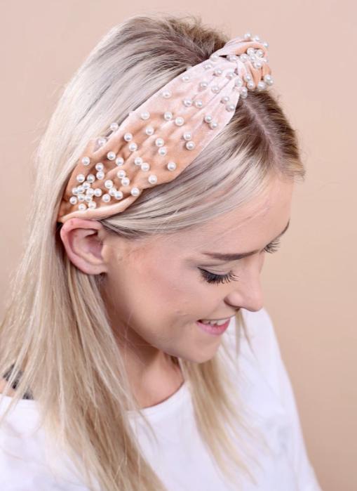 CHW Velvet Pearl Headband 16609
