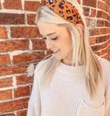 CHW Color Block Leopard Twist Headband 17081