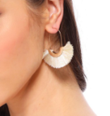 FC Circle Tassel Earrings 2143
