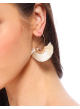 FC Circle Tassel Earrings 2143