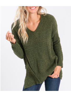 AB Asymmertical Hem Sweater 1085