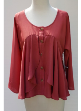 SIB Baby Doll Long Sleeve Top 10025