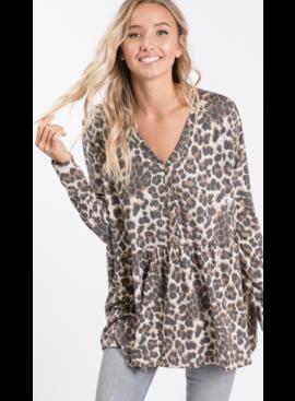 7R Animal Print Tunic Top 2858