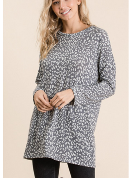 BM Relaxed Animal Tunic Top 1367