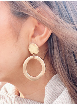 LA3 Hammered Hoop Earring 4703