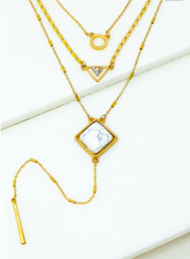 LA3 3 Layer Chain with Pendant