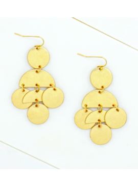LA3 Circle Drop Earrings 4703