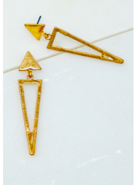 LA3 Triangle Earrings 4703