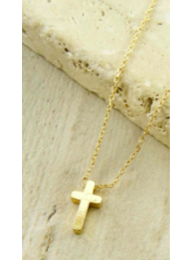 LA3 Cross Charm Necklace 47011