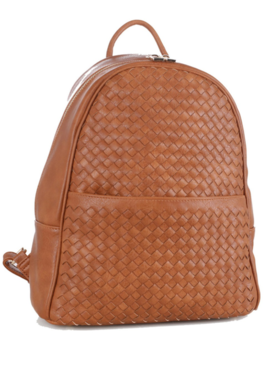 PP Woven Faux Leather Backpack 19538
