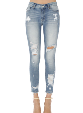 KC Gemma Mid Rise R&B Ankle Skinny 8319